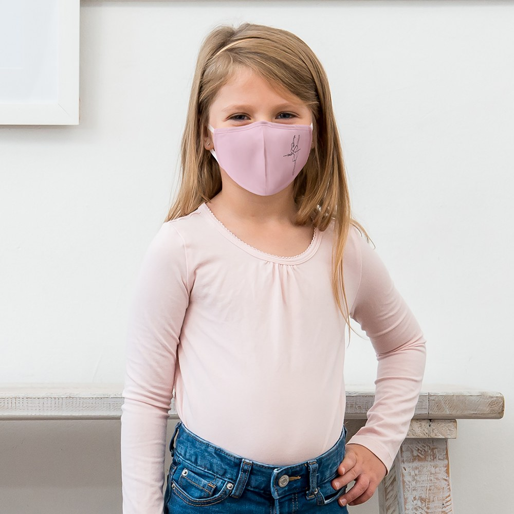 Kid's Protective Cloth Face Mask - Pink Ballerina