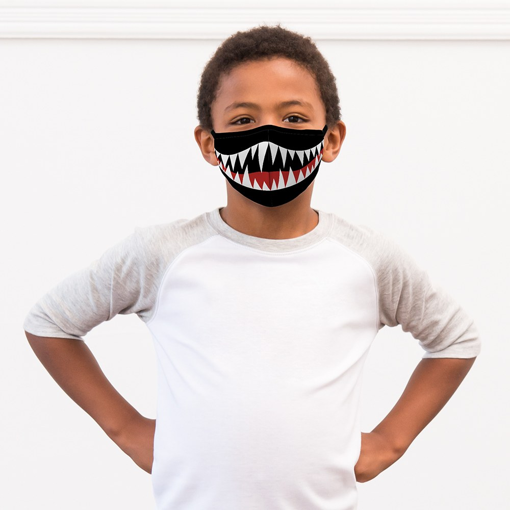 Kid's Protective Cloth Face Mask - Monster Mouth