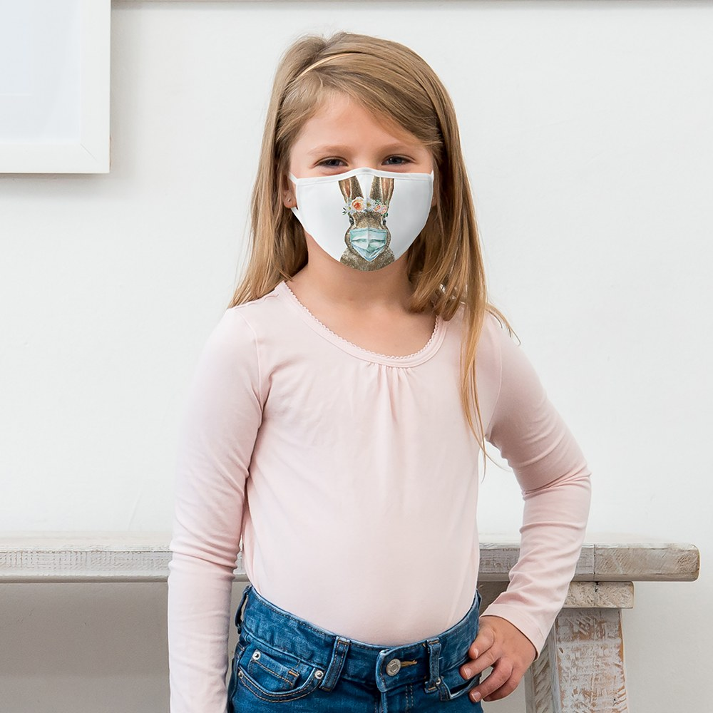 Kid's Protective Cloth Face Mask - Bunny