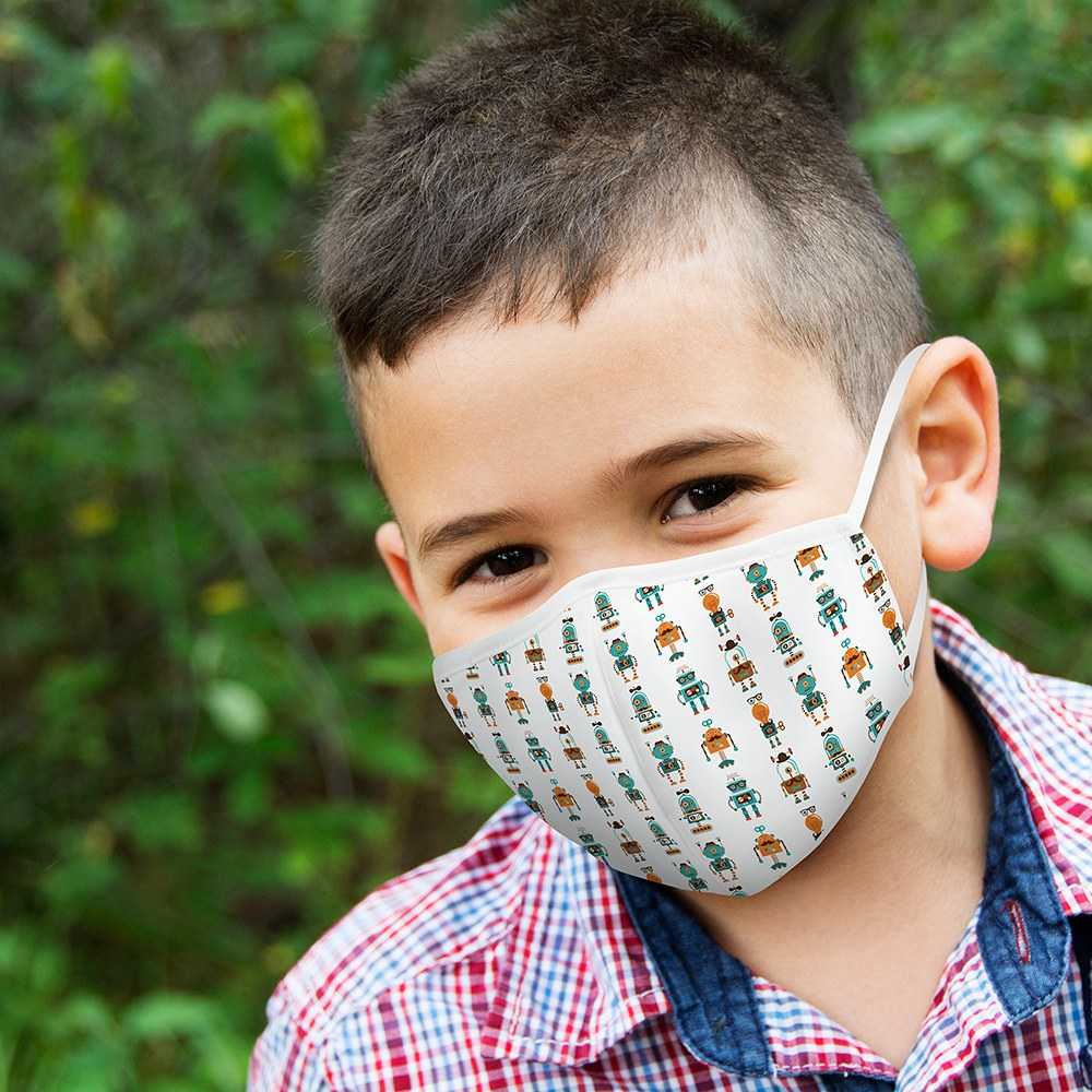 Kid's Protective Cloth Face Mask - Gentleman Robots