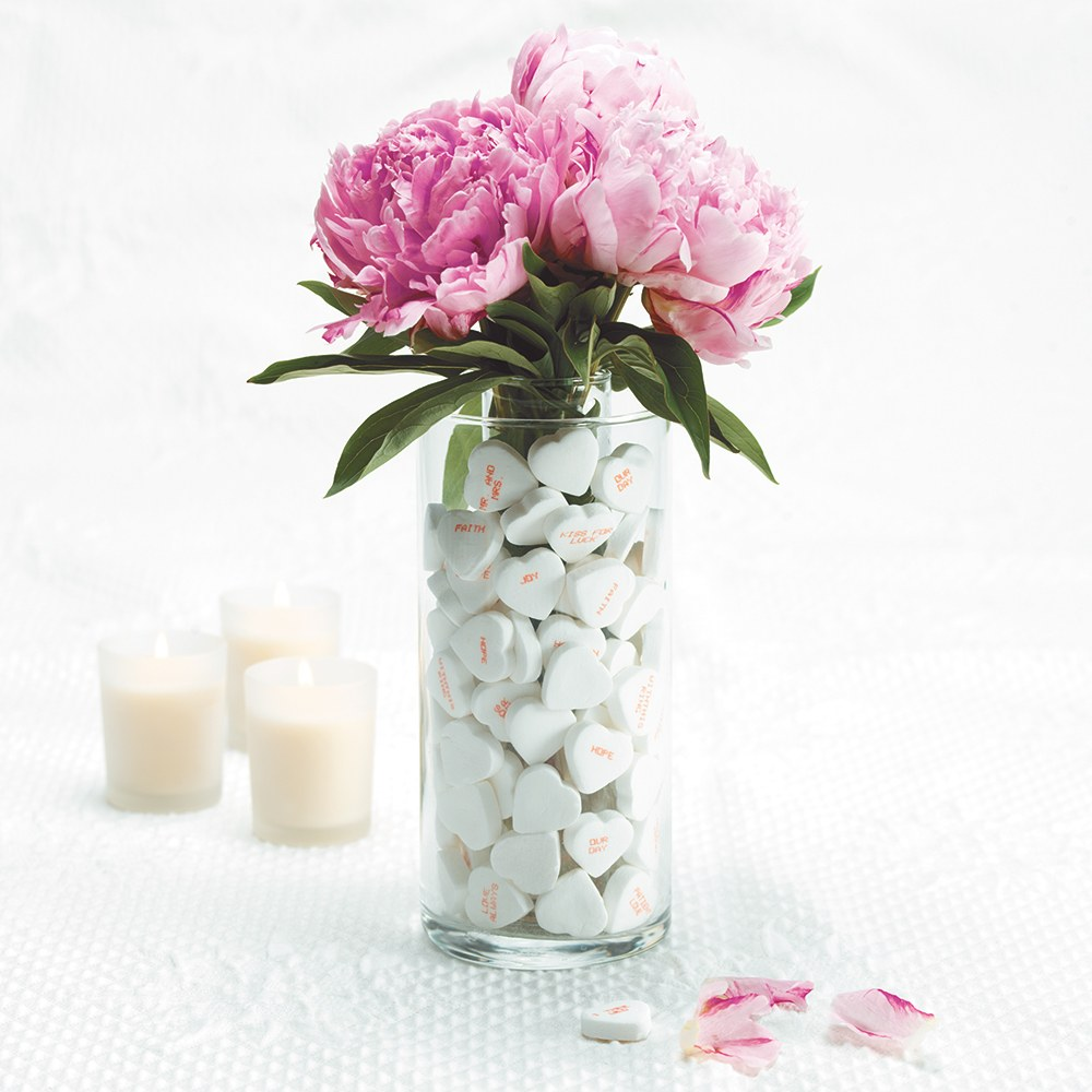 Wedding Reception Glass Cylinder Centerpiece
