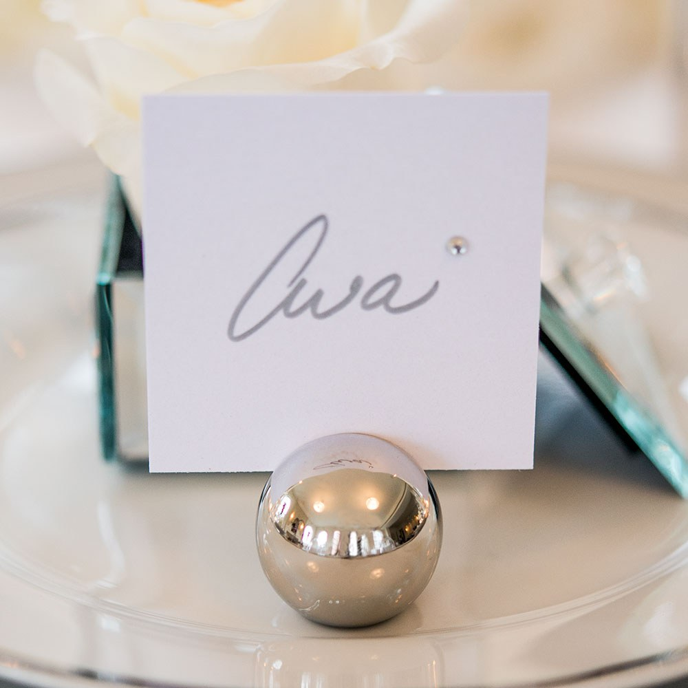 Round Wedding Place Card Holders