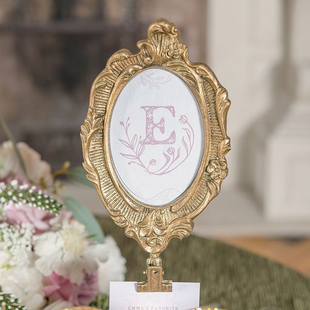 Oval Baroque Table Sign Holder