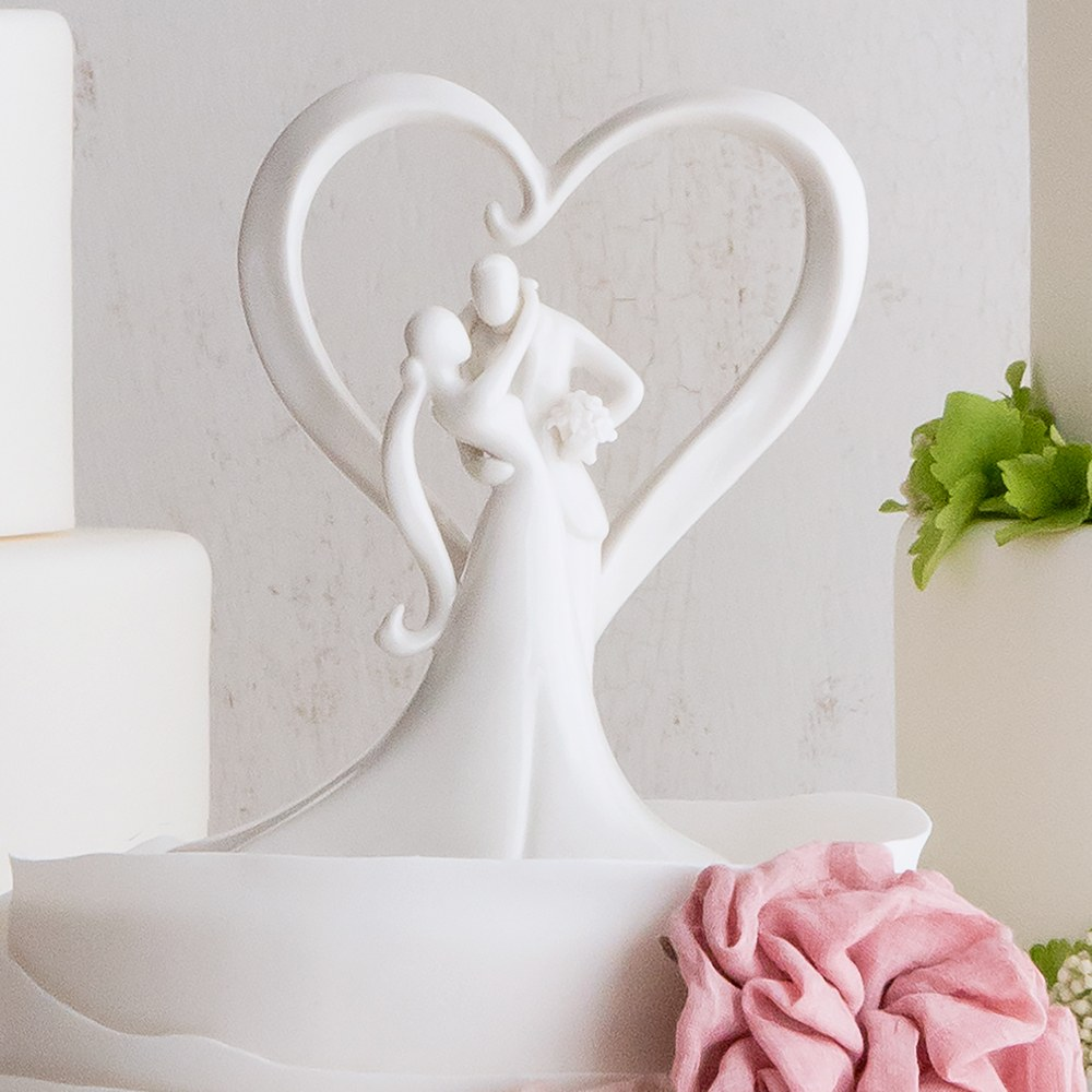 Stylish Embrace Wedding Cake Topper