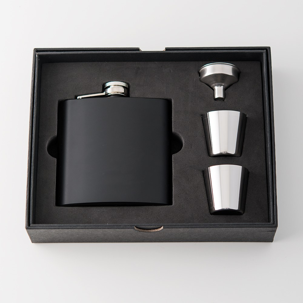 Black Coated Flask