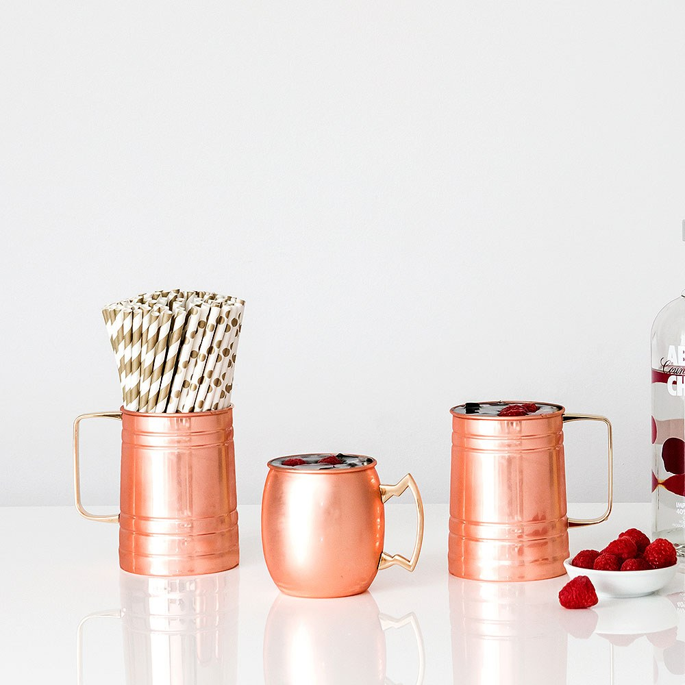 Plain Copper Moscow Mule Drinking Mug