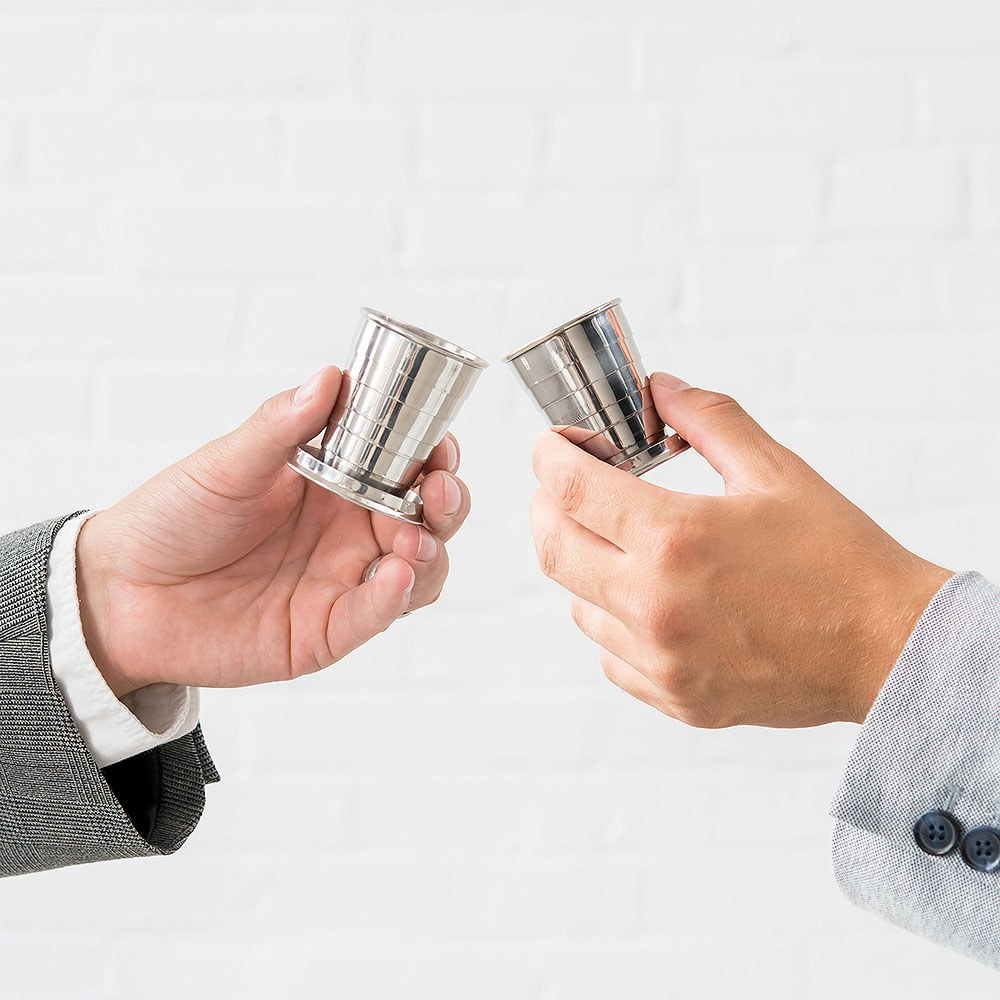 Silver Stainless Steel Collapsible Shot Glass