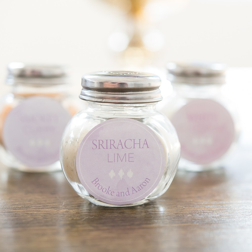 mini classic candy jar wedding favors