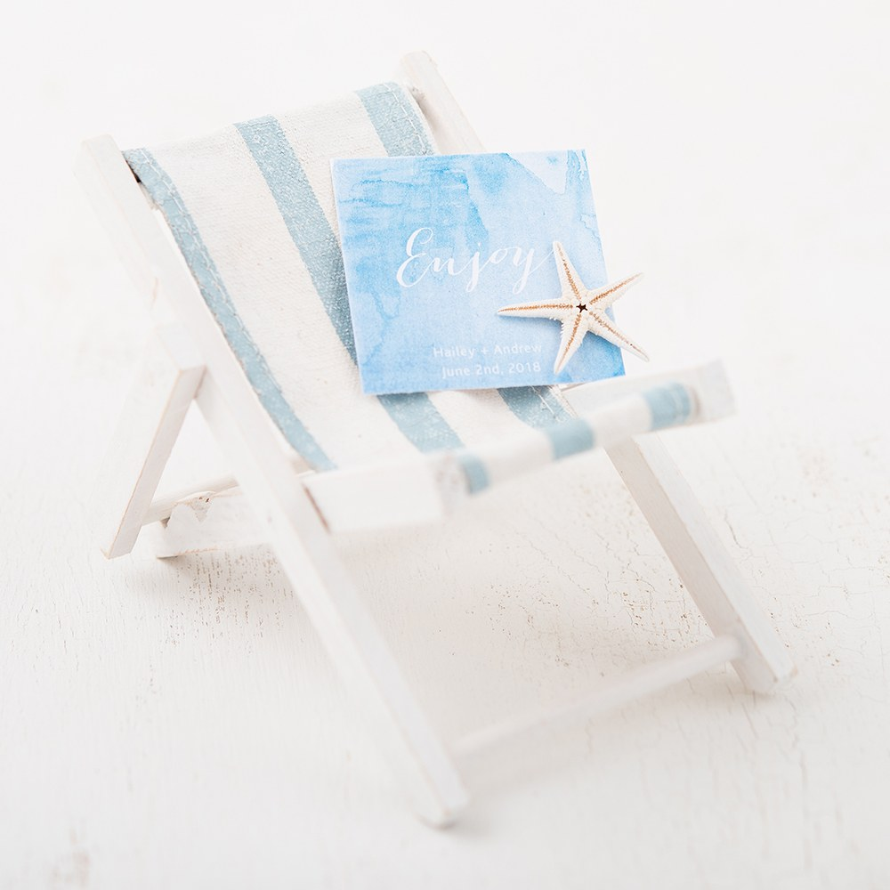 folding beach chair wedding favors