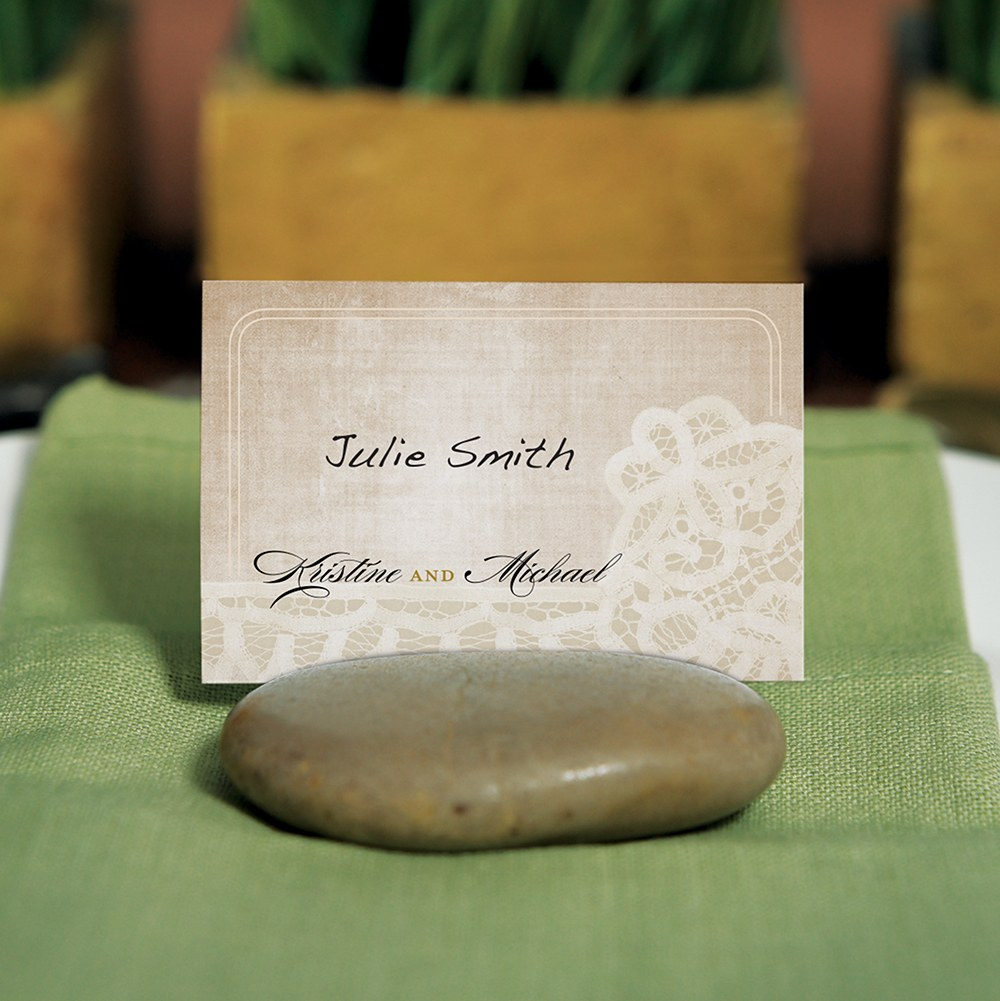 Natural Stone Place Card Holder