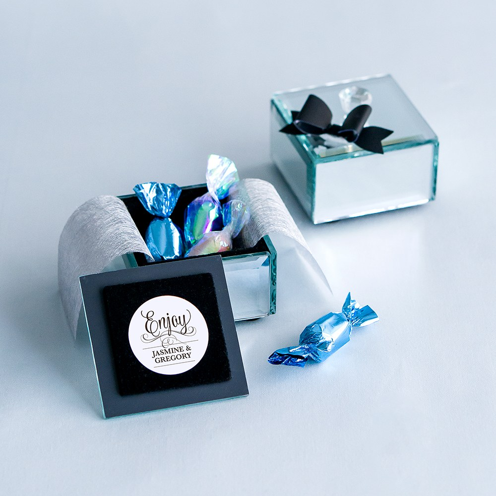 mirror box wedding favor