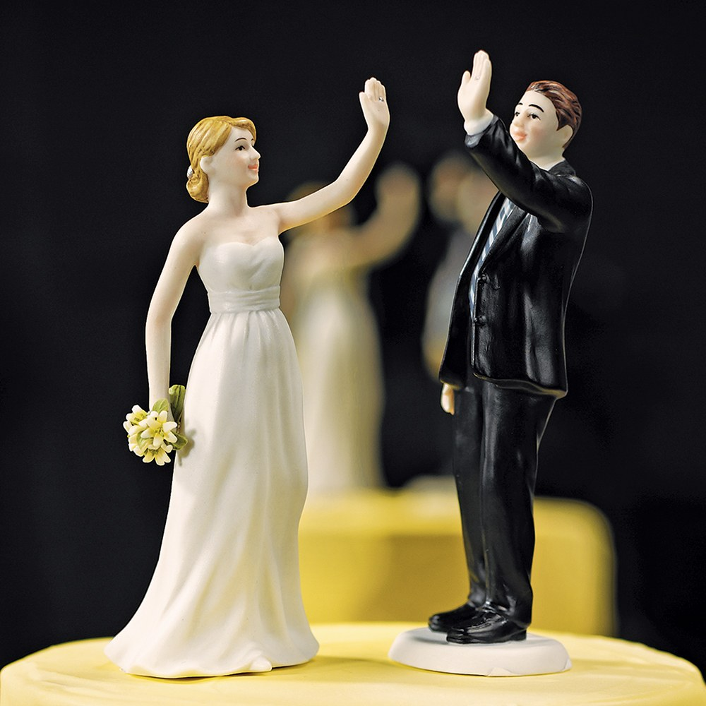 High Five Groom Cake Topper
