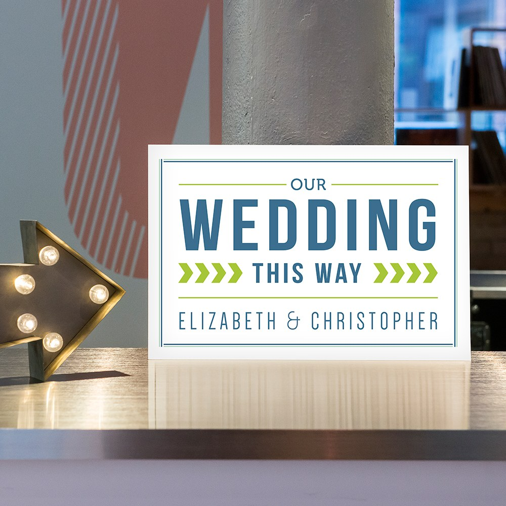 Smart Type Personalized Directional Sign