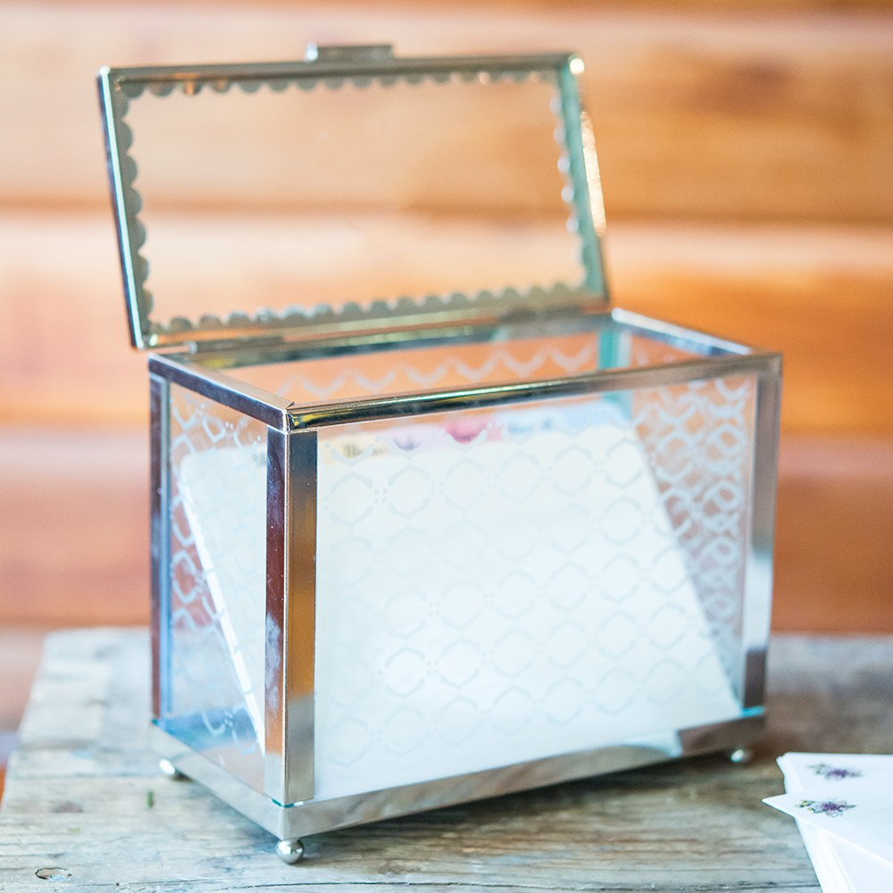 Decorative Glass Box with Mirror Base