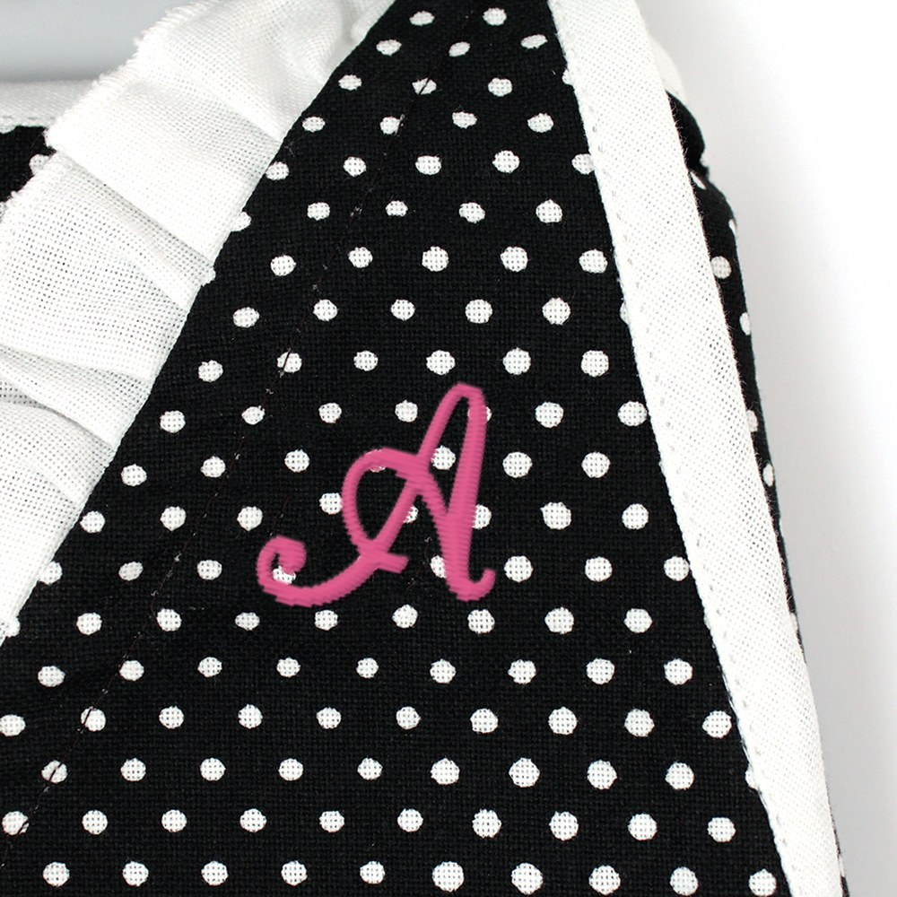 Custom Women's Retro Hostess Apron - Cursive Monogram Initial