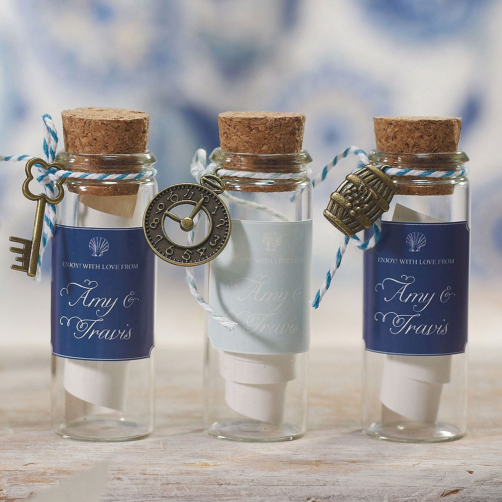 Miniature wine bottles wedding decoration cake table toppers charms favours new