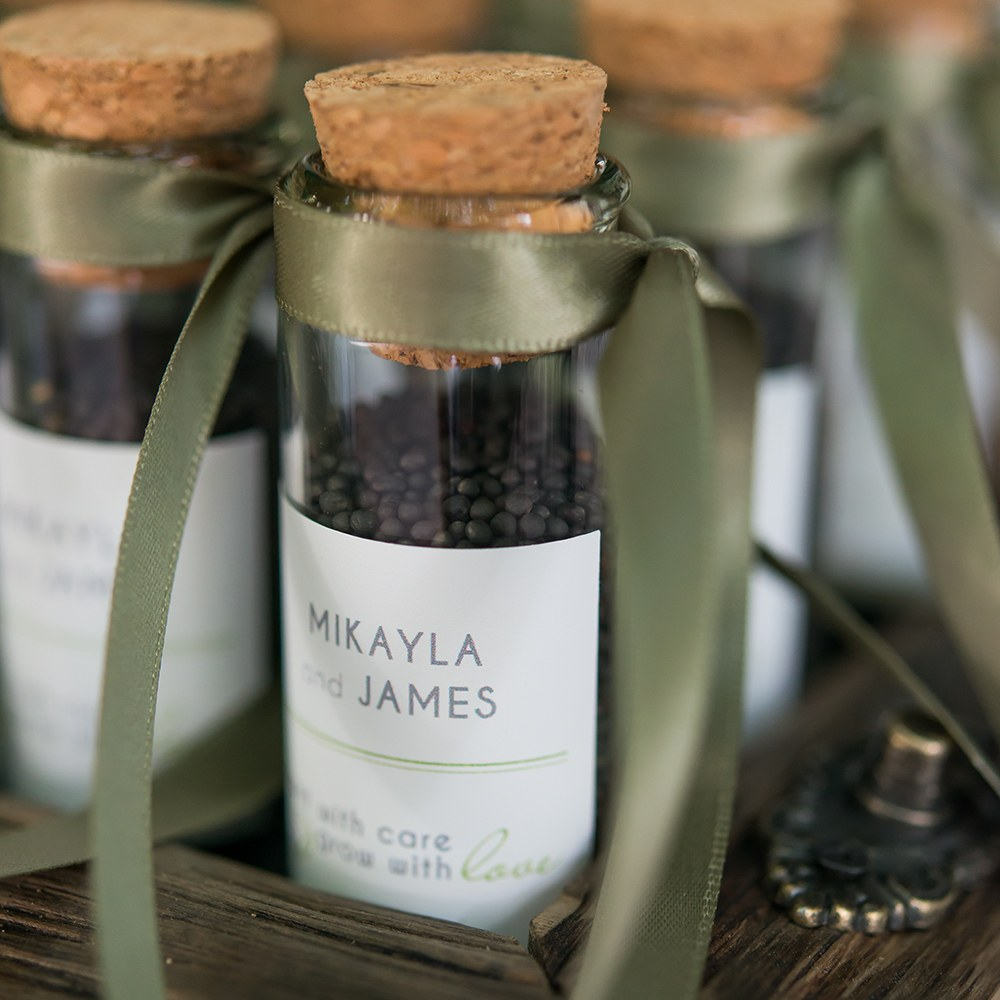 Mini Clear Glass Bottle with Cork