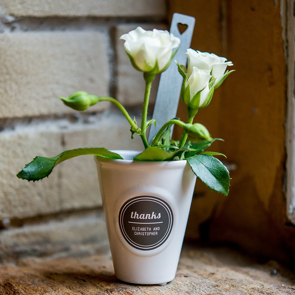Mini High Top Flower Pot with embossed frame