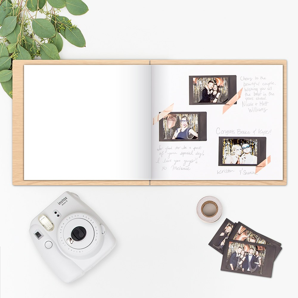Personalised Polaroid Wooden Wedding Guest Book