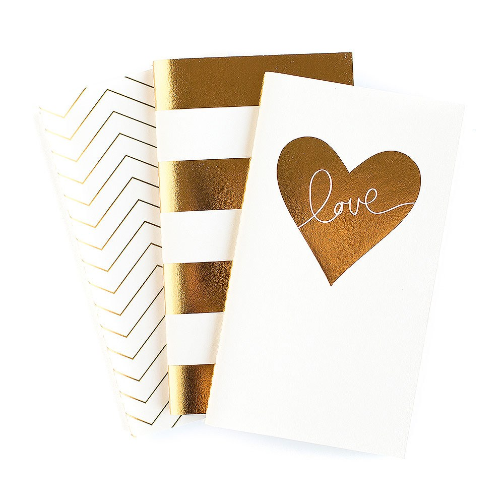 Gold Foil Print Mini Journal
