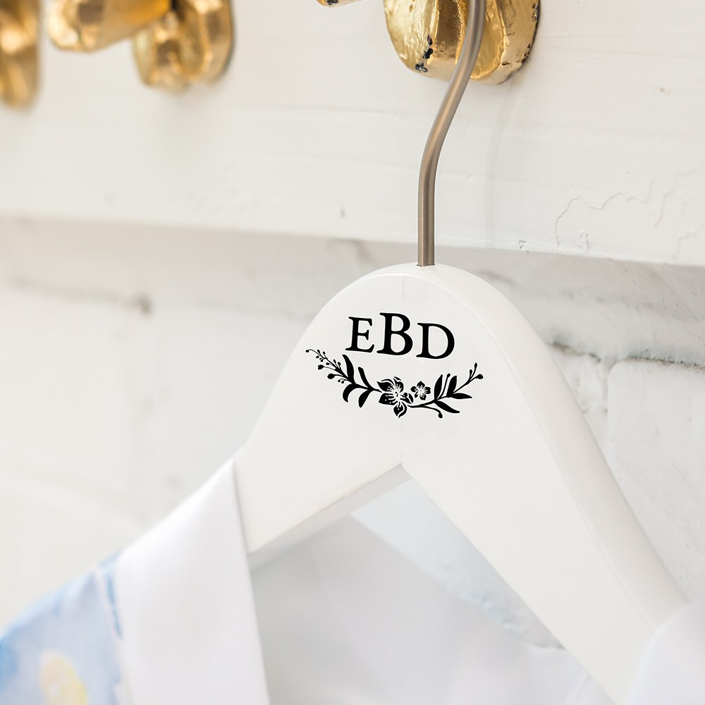 Personalized Wooden Bride and Bridesmaids Hangers - Modern Fairy Tale