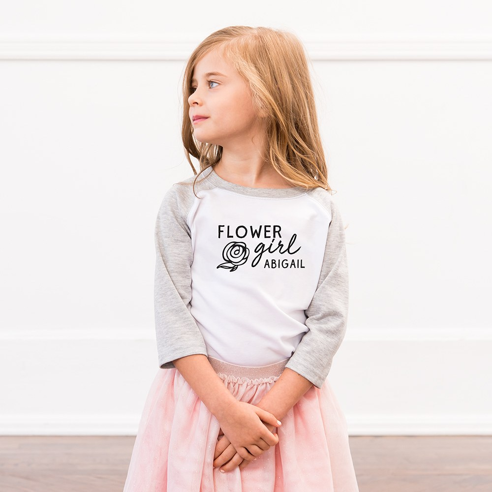 Personalized Kid's T-Shirt - Flower Girl