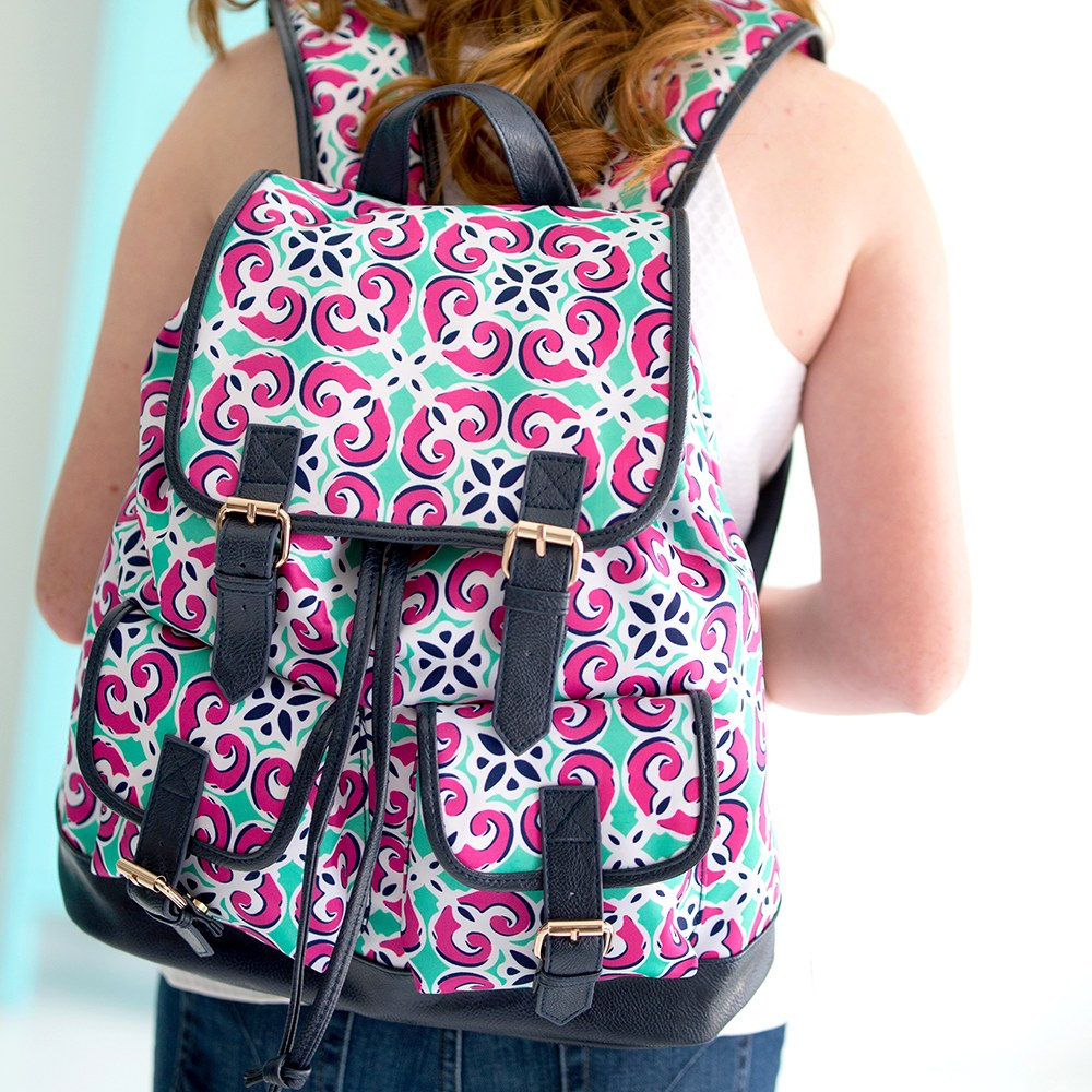 Retro Style Backpack - Kaleidoscope