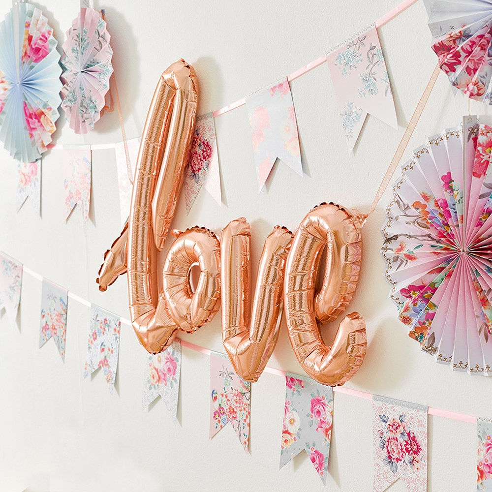 Foil Balloon Decoration - Cursive Love