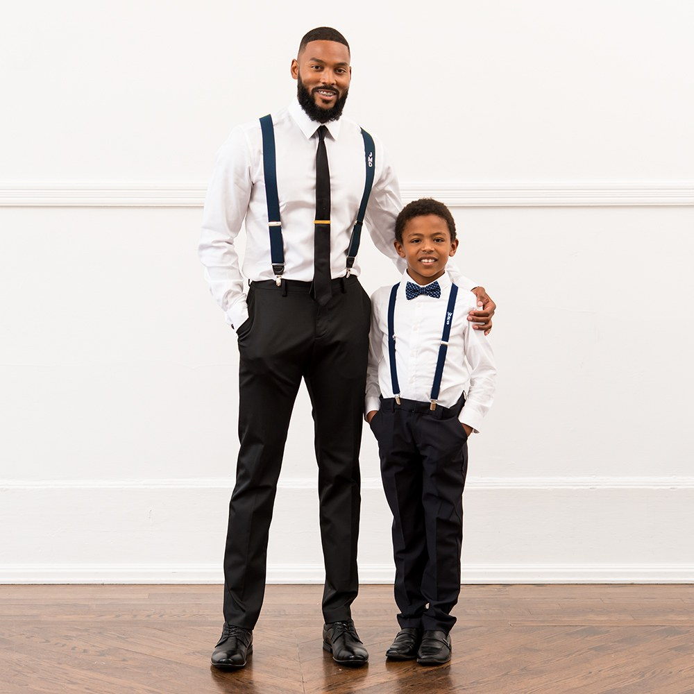 Baby Boys Kids Suspender Bow Tie Matching Set Tuxedo Party Suit Children Gift