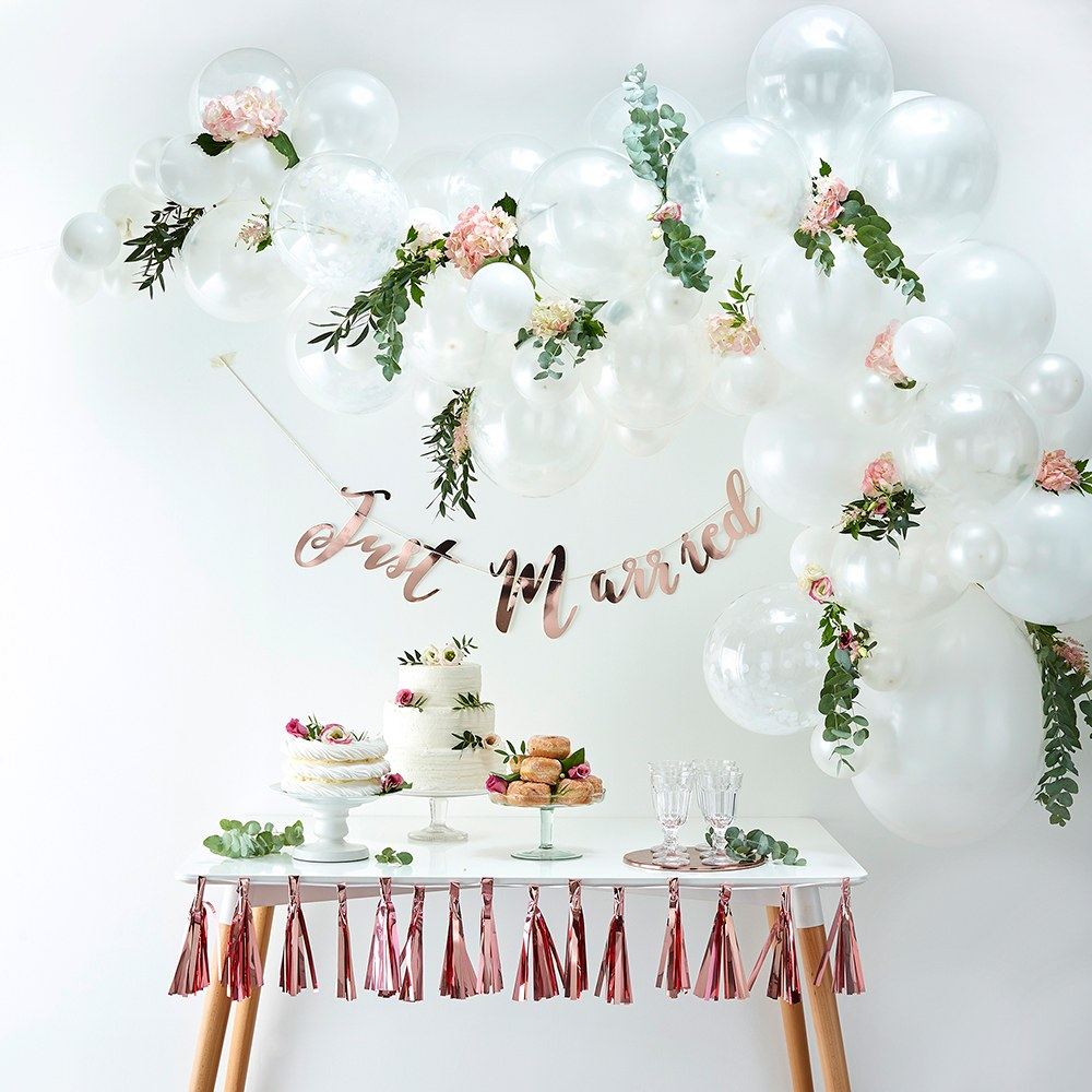 Balloon Arch Kit - White Arrangement