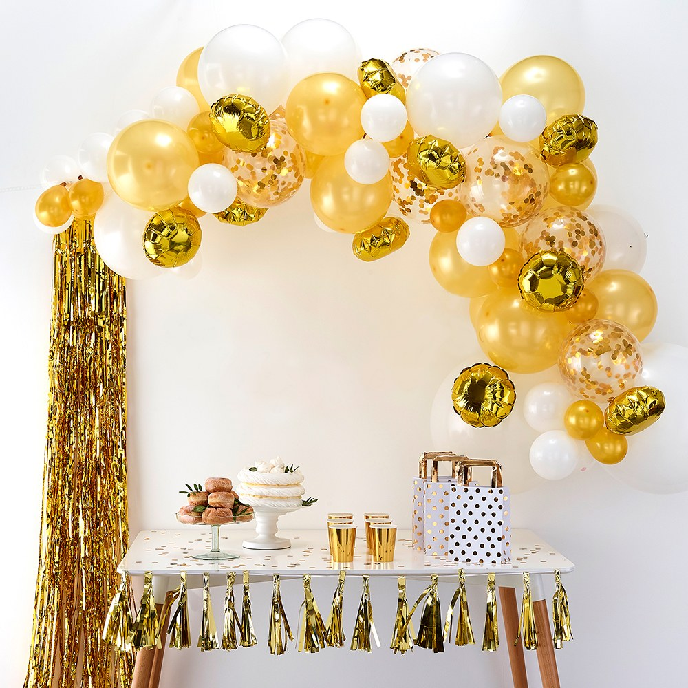 Balloon Arch Kit - Gold Arrangement