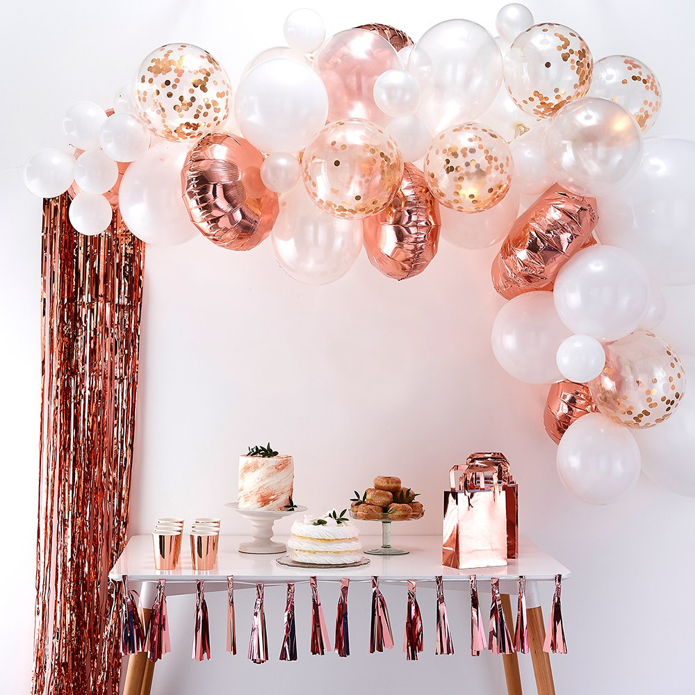 Balloon Arch Kit - Rose Gold Arrangement