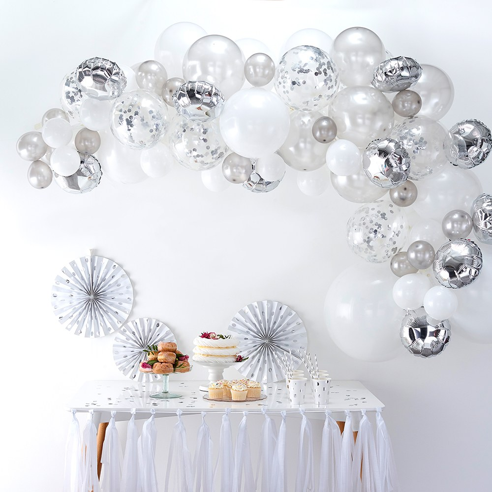 Balloon Arch Kit - Silver Arrangement