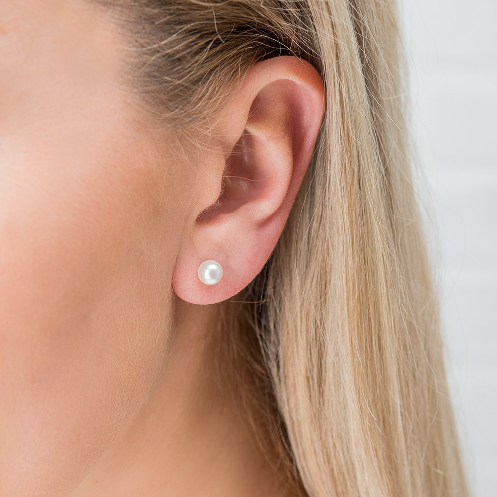 Swarovski Pearl Stud Earrings - Couldn't Do It Without You