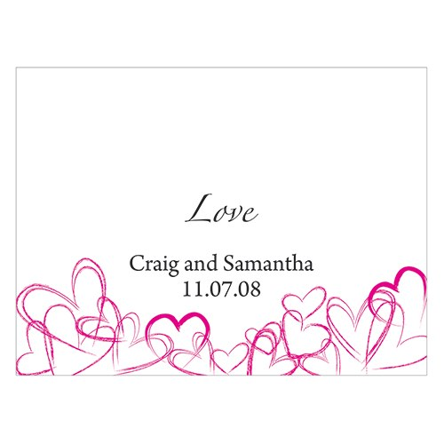 Contemporary Hearts Wedding Note Card