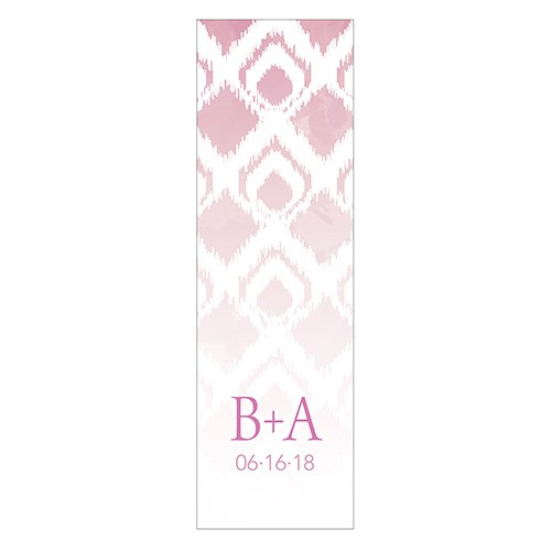 Ikat Small Rectangular Favor Tag