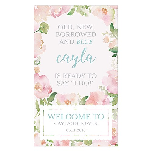 Garden Party Personalized Welcome Sign for Rustic Wood Frame