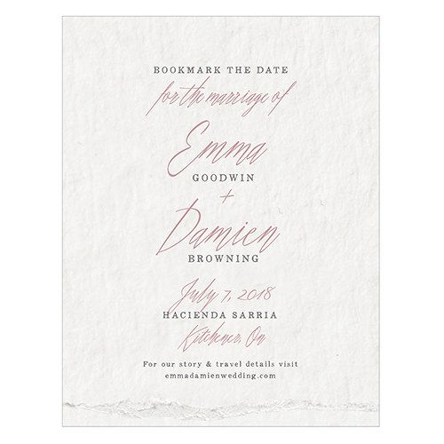 Modern Fairy Tale Save The Date Card