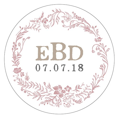 Modern Fairy Tale Small Sticker   Floral Wreath