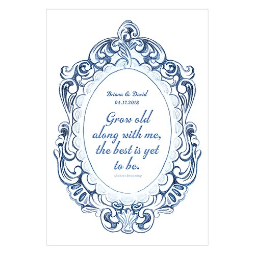 Vintage Romance Open Format Directional Poster