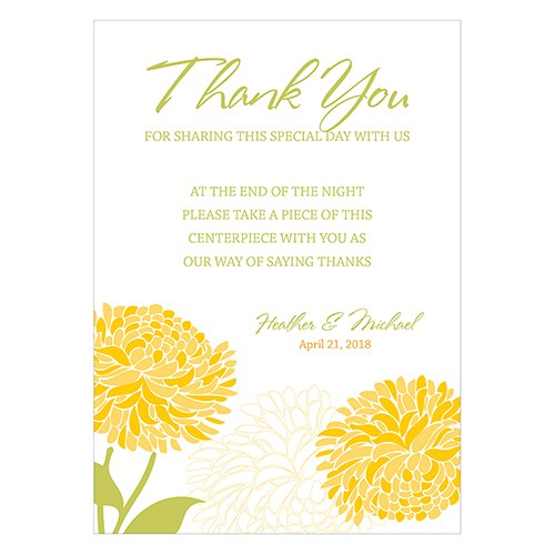 Zinnia Bloom Open Format Table Sign