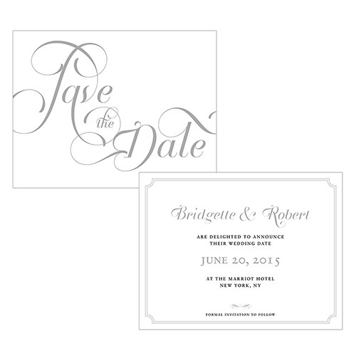Expressions Wedding Save The Date Card