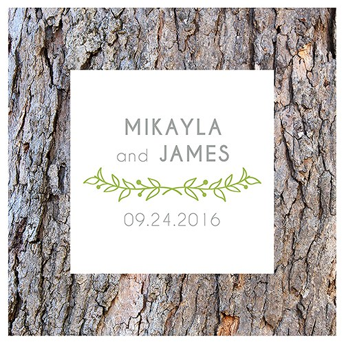 Woodland Pretty Personalized Clear Acrylic Block Cake Topper