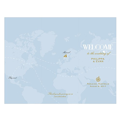 Vintage Travel Map Trifold Program