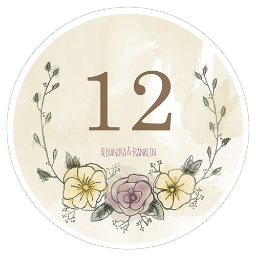 Natural Charm Round Table Numbers