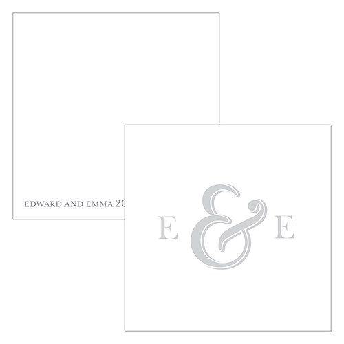 Monogram Simplicity Square Favor Tag   Simple Ampersand