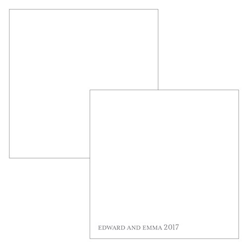 Monogram Simplicity Square Favor Tag   Open Area for Embossing/Stamping