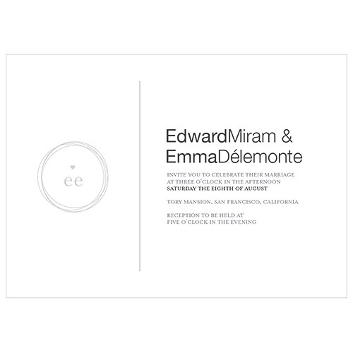 Monogram Simplicity Invitation   Modern