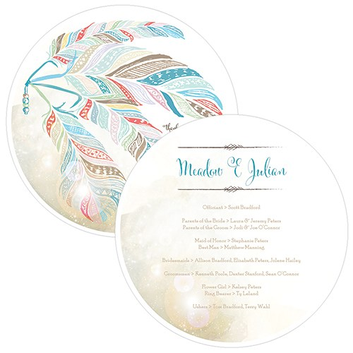 Feather Whimsy Personalized Hand Fan