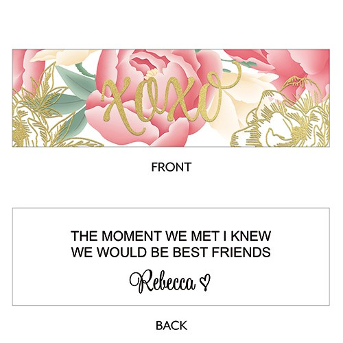 Modern Floral Rectangular Favor Tag - XOXO Foiled Print